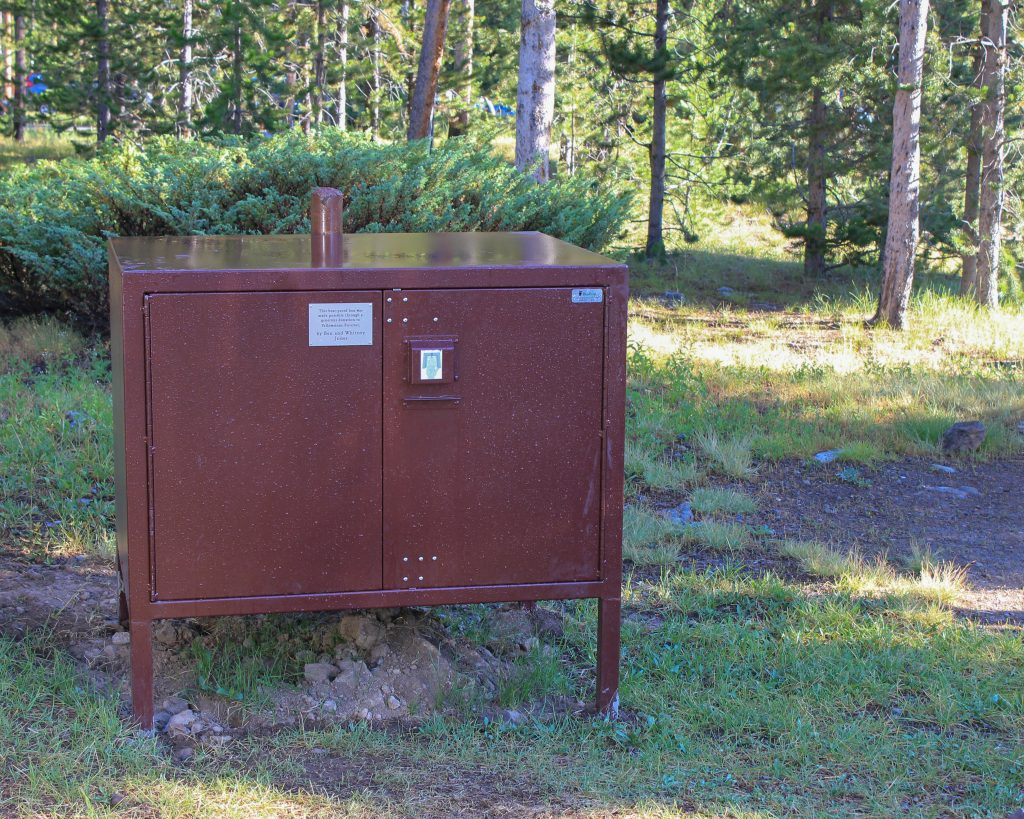 store your gluten-free food properly in bear proof storage