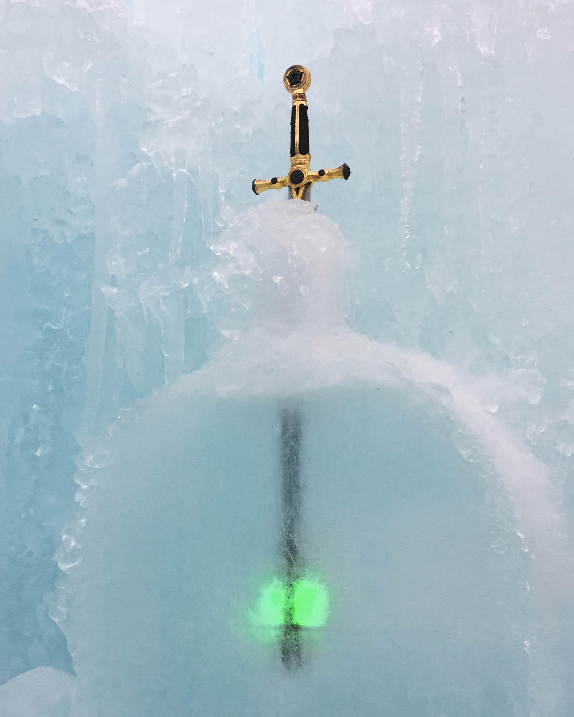 A frozen sword