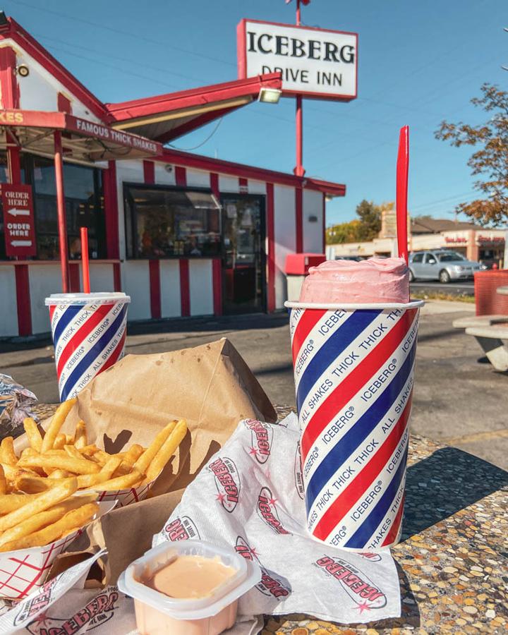 Must-Eat Restaurants in Utah: Iceberg for Thick Milkshakes